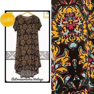 LuLaRoe Jersey Abstract Art Carly Dress Small